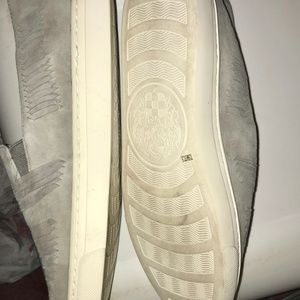 Vince Camuto Shoes - Vince Camuto Gray Woven Slip-On Sneakers